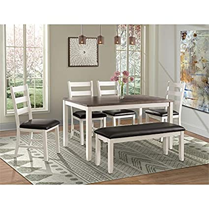 Phenomenal Amazon Com Picket House Furnishings Kona Brown 6Pc Dining Gmtry Best Dining Table And Chair Ideas Images Gmtryco