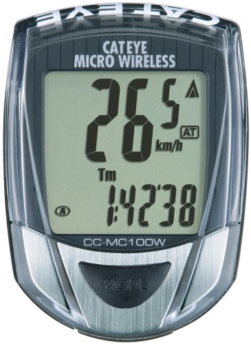 Cateye CC-MC100W Micro Wireless 10-Function Bicycle Compu...