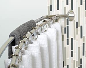 Amazon Zenith Products Adjustable Curved Shower