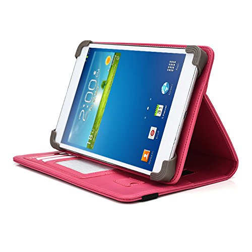 Digital2 D2-721 7 Inch Tablet Case, UniGrip PRO Series - HOT PINK - By Cush Cases (Case Features (Hot Pink D2 Tablet)