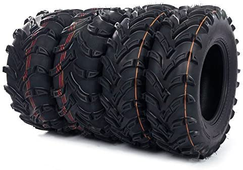 Set of 4 New ATV/UTV Tires 2 of 25x8-12 Front and 2 of 25x10-12 Rear /6PR - P377