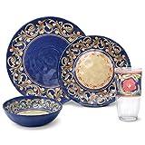 Pfaltzgraff Villa Della Luna Melamine Outdoor 32 Piece Dinnerware Set, Service for 8