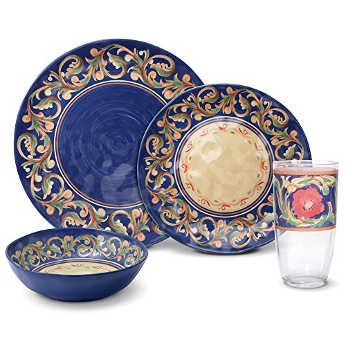Pfaltzgraff Villa Della Luna Melamine Outdoor Dinnerware Set (16 ()