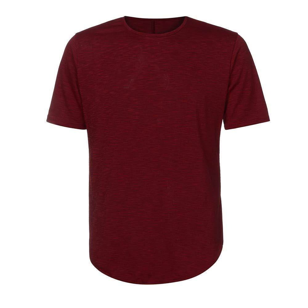 MIRRAY Camiseta De Manga Corta De Hombre con Cuello Redondo O Muscle Fit para Hombre Camiseta Casual Tops Ropa De Verano: Amazon.es: Ropa y accesorios
