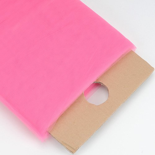 Shocking Pink 54 Inch Tulle Fabric Bolt 54 inch 40 Yards by BBCrafts