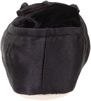 Isotoner Women's Classic Satin Ballerina Slipper, Large Black 1