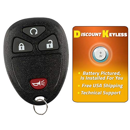 Discount Keyless Replacement Keyless Entry Remote Key Fob Car Compatible with OUC60270, 15913421