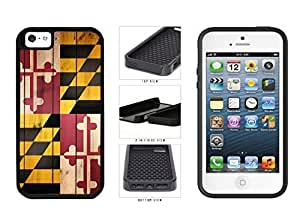 Maryland State Flag on Wood 2-Piece Dual Layer Phone Case Back Cover Apple iPhone 5 5s