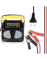 CENXINY Chargeur de Batterie,Mainteneur Intelligent 10A 12V/24V Affichage LCD, Batterie Automatique Protections Multiples pour Batterie de Voiture, Moto, Tondeuse, Camion ou Bateau