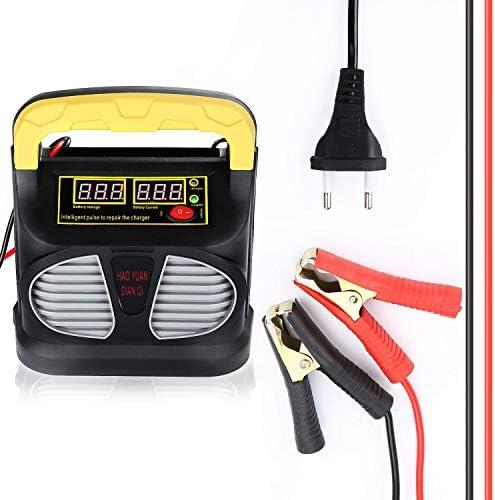 Entretien et r/éparation pour la Plupart des Types de Batteries au Plomb Prise UE Chargeur de Batterie de Moto AGM 12V // 24V et Entretien avec Charge MACHSWON Chargeur de Batterie de Voiture