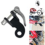 lotus.flower Bike Trailer Hitch Coupler, Steel Bicycle Bike Trailer Coupler Attachment Angled Elbow for Burley Trailers