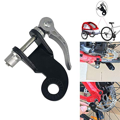 Coerni Bike Trailer Hitch Connector, Steel Bicycle Bike Trailer Coupler Attachment Angled Elbow for Burley Trailers