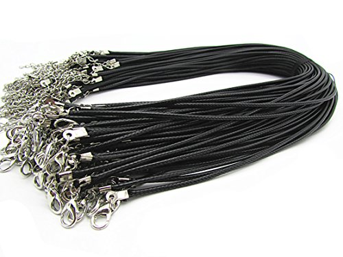 Fashion Braided Leather Necklace Lobster