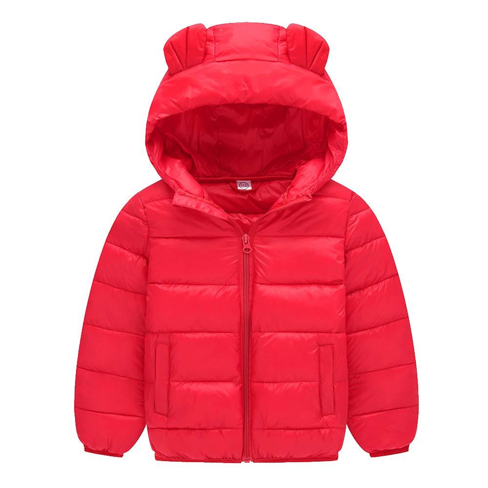 Mornyray Toddler Kids Boy Girl Light Down Jacket Warm Winter Outerwear Snowsuit