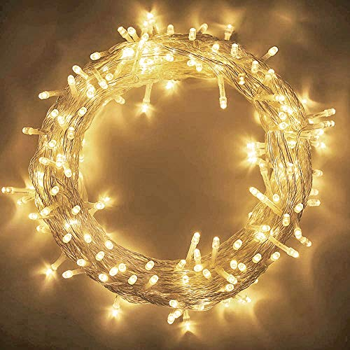 MYGOTO 98FT 200 LEDs String Lights Waterproof Fairy Lights 8 Modes with Memory 30V UL Certified Power Supply for Home, Garden, Wedding, Party, Christmas Decoration Indoor Outdoor (Warm White) from MYGOTO