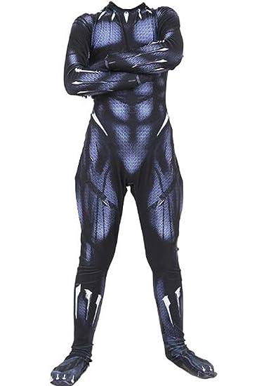 63f74945 Amazon.com: BeautifulTimes Kids Bodysuit Costume Halloween Deluxe Muscle  Chest Battle Suit 3D Black Jumpsuit: Clothing