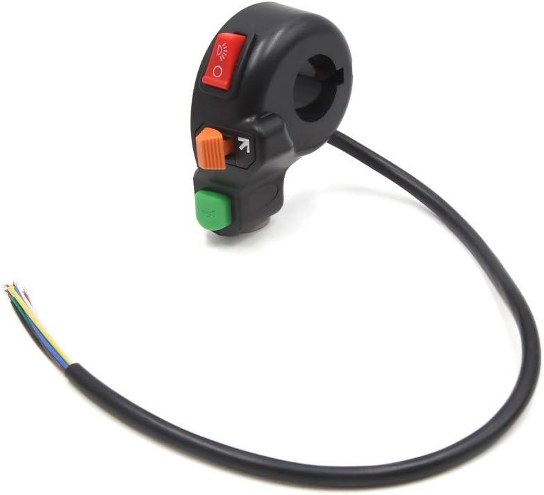 uxcell 3pcs Multipurpose Motorcycle 22mm Handlebar Horn Headlight Turn Signal Lamp Switch