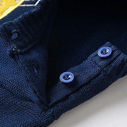 Dealone Baby Boys Dinosaur Cotton Knit Sweater Toddler Pollover Sweatshirt