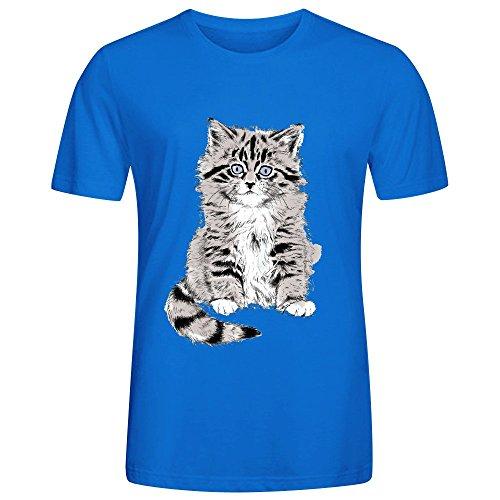 Soft Kitten Mens Tees Blue