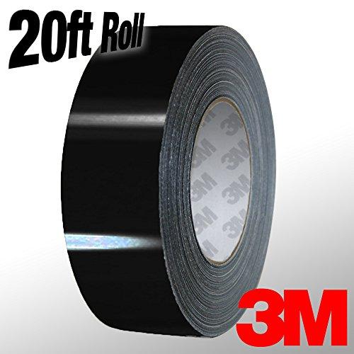VViViD 3M 1080 Black Gloss Vinyl Detailing Wrap Pinstriping Tape 20ft Roll (1