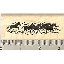 Herd of Running Horses Rubber Stamp