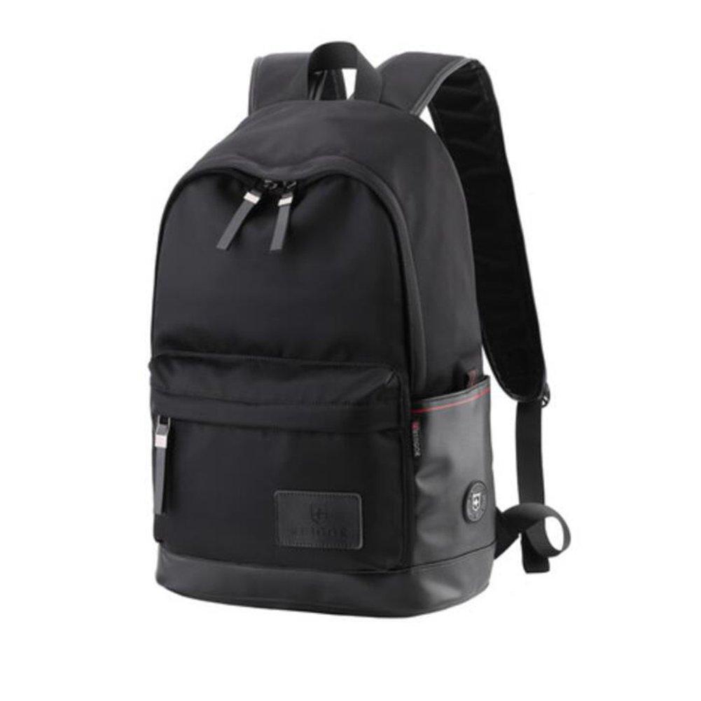FH fhweekender旅行バックパックカレッジ学生高校生バックパック中学生バッグSchoolboy ブラック C11 B07FPBZF25 ブラック