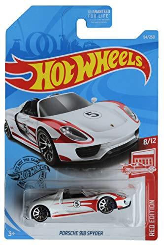 Hot Wheels Red Edition Series 8/12 Porsche 918 Spyder 94/250, blanco / rojo