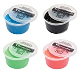 TheraPutty Standard Exercise Putty Red - Soft, Green - Medium, Blue - Firm, Black - X-firm 1 LB Each - Bundle