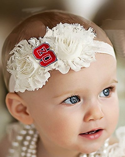 Future Tailgater NC State Wolfpack Baby/Toddler Shabby Flower Hair Bow Headband (6-12 Months/ - Wolfpack State Pajamas Nc