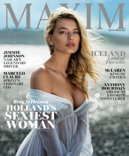 Maxim Magazine (September, 2017) Bregje Heinen Cover