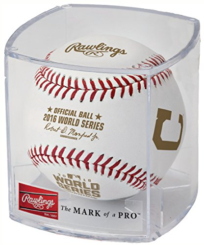 (Rawlings 2016 World Series Official Dueling Teams Baseball with Indians & Cubs Logo - CUBED)