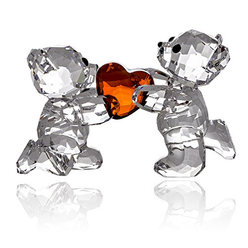 Swarovski Kris Bear - My Heart Is Yours 1143463 With FREE Bevelled Mirror Base by Swarovski