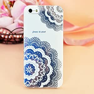 Femme Hard Case Cover for iPhone 5 - Femme Romantic Collection (White Floral Lace)