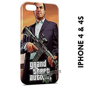 Carcasa Funda iPhone 4/4S GTA 5 3 Protectora Case Cover