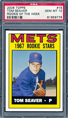 2006 Topps 1967 Rookie of the Week #15 Tom Seaver Baseball Card Graded PSA 10