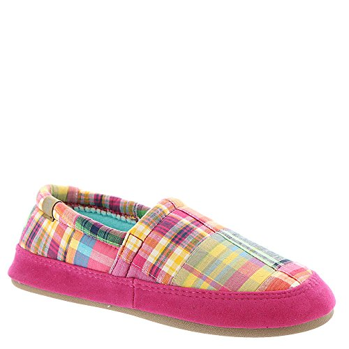 ACORN Women's Moc Summerweight Slipper (Medium / 6.5-7.5 B(M) US, Bright Madras)
