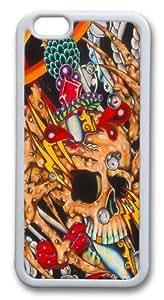 Crab Skull Custom iphone 6 plus 5.5 inch Case Cover TPU White