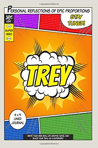 Superhero Trey A 6 x 9 Lined Journal [One Jacked Monkey Publications] (Tapa Blanda)