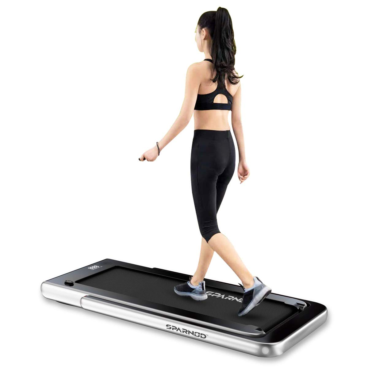 Buy Sparnod Fitness STH-3000 (4 HP Peak) 2 in 1 Foldable Treadmill for Home  Cum Under Desk Walking Pad- Slim Enough to be stored Under Bed (Grey)  Online at Low Prices in