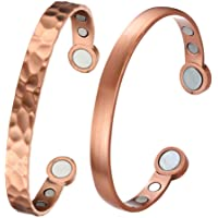 Therapeutic Copper SET of 2 Bracelets! Pure Copper with 12 powerful Neodymium Magnets, Pain relief from Arthritis, joint…