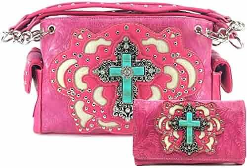 ec6c6f8cb9d Shopping JustinWest - Leather - Pinks - Handbags & Wallets - Women ...