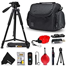 "Premium Well Padded Camera CASE / BAG and Full Size 60"" inch TRIPOD Accessories KIT for FUJI FinePix S9900W, S9800, S9400W, S9200, S8600, S8500, S8400W, S8300, S8200, S6900, S6800, S6700, S4800, S4700, S4600, S4500, S4400, S4300, S2950 Fujifilm X100T X100S X100 X-T10 X-T1 X-A2 X-A1 XQ2 XQ1 X-E2 X-E1 X-Pro1 X30 X20 X10 X-M1 XF1 X-S1 Digital Cameras"