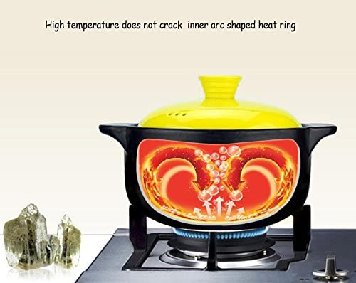 WJF Pot de soupe Casserole Pan Ustensiles de cuisine Ménage en céramique Grès Soupe Soupe Santé Flamme Casserole résistant à la chaleur Congee Fête des mères Cadeau (taille : 4L)