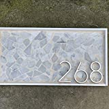 Daqin 12cm Large 3D Modern House Number Door House