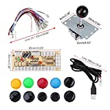 Zero Delay Arcade Game DIY Kits Parts 10 Buttons + Joystick + USB Encoder for MAME PC and Other PC Fighting Games