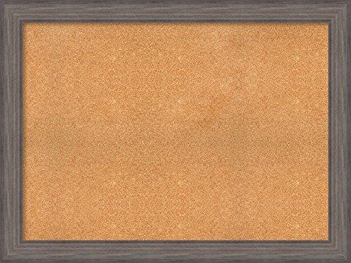 Amanti Art Natural Cork | Country Barnwood Framed Bulletin Boards, Size 42x30