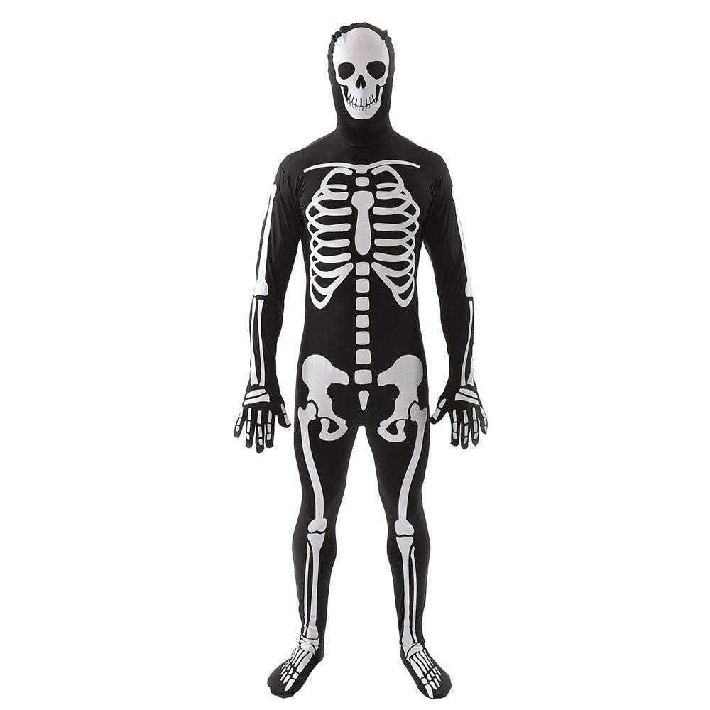 Halloween Polyester Cosplay Costume Skull Trooper Costume, Stretch Body Suit, for Halloween Party& Stage Performance Aolvo
