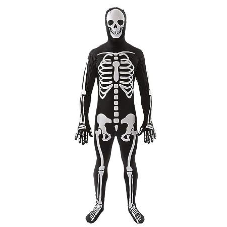 bc1c4444de3 KOBWA Halloween Polyester Cosplay Costume Skull Costume