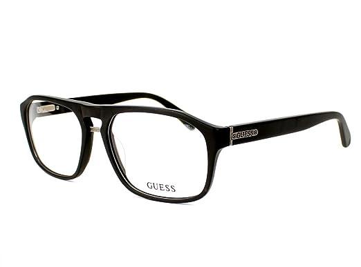 69058d3eba Guess eyeglasses GU 1842 BLK Acetate plastic Matt Black  Amazon.co ...