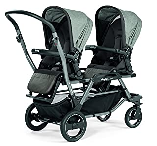 A stroller that offers many incredible combinations! The Duette Piroet is extremely agile, with easy to use swivel front wheels, and allows mobility through most narrow places. The one-piece handlebar allows parent to manuever the in-line double stro...